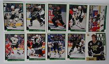 1993-94 Upper Deck UD Series 1 Dallas Stars Team Set of 10 Hockey Cards