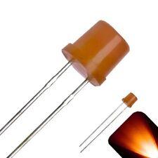 50 x LED 5mm Amber Orange Diffused Ultra Bright Flat Top Wide Angle LEDs Light