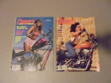 LOT OF 2 1981 CHOPPERS MAGAZINE, HARLEY TURBO,LACONIA,YAMAHA VIRAGO,GIRLS,RIDES