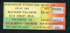 1982 Split Enz Innosense concert ticket stub Hollywood Palladium True Colours