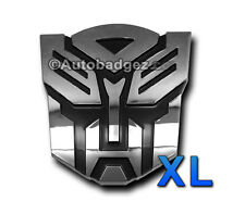 2 - XL CHROME transformers AUTOBOT auto badge emblem CHROME