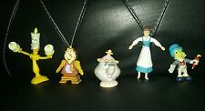 Vintage beauty and the beast toy lot walt disney belle cogsworth lumiere ms pots