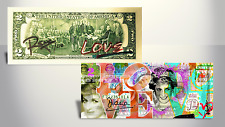 PRINCESS DIANA Love Banksy / Rency ART GENUINE US $2 Bill Ltd to 218 HAND-SIGNED