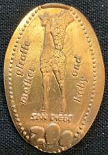 Mother Giraffe & Baby - San Diego Zoo California Copper Wheat Pressed Penny
