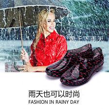 Women Rain Shoes Ankle Rain Boots Breathable Galoshes Waterproof Comfort Fashion