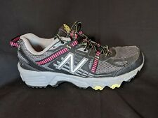 New Balance 410v4 Trail Running Shoes WT410BP4 Black/Pink/Gray Womens 7