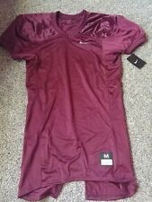 Nike Football Practice Mesh Jersey Size Medium 535703 Short Sleeve Maroon $55