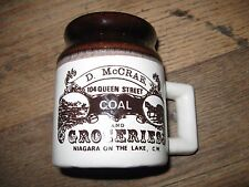 Hand Made Two Toned Cup D McCrae Coal & Groceries Niagara On the Lake, CW