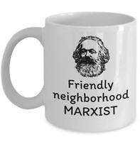 Friendly neighborhood Marxist - funny Karl Marx socialist Sociology coffee mug