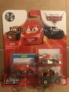 DISNEY CARS DIECAST Mini Racers LMQ, Mater, Francesco Bernoulli Read Description