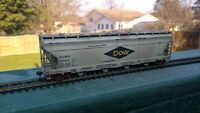 HO Scale DOW Chemical Covered Hopper #4057 - CUSTOM-WEATHERED! - Athearn