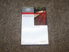 2011 Toyota 4Runner Owner Owner's User Guide Manual SR5 Trail Limited 4.0L V6
