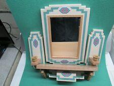 Home Interiors S.Western Mirror,Shelf, 2 Candle Holders Burwood Prod. L@K