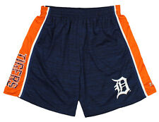 Zubaz MLB Baseball Men's Detroit Tigers Space Dye Solid Stripe Shorts