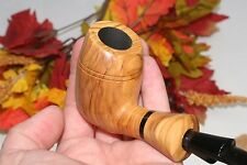 Smoking Pipe Mario Grandi Bent SU Freehand Natural Olive