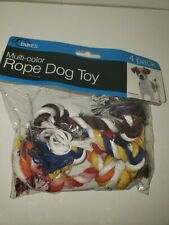 Dukes' Knotted Rope Toy - Set of 4 - Multi-Color - dog puppy chew teething pull