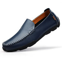 US Men's Casual Driving Moccasins Shoes Genuine Leather Loafers Slip on