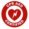 CPR AED Certified Circle Emblem Vinyl Decal Window Sticker Car