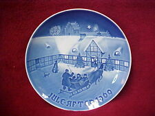 Bing & Grondahl Kjobenhavn Porcelain Christmas Plate 1969 in box