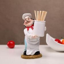 Restaurant Kitchen Cafe Decor Chef Cook Figurine Toothpick Holding Statue Retro