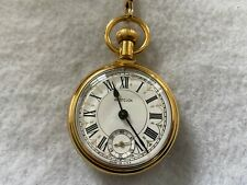 Westclox Mechanical Wind Up Vintage Pocket Watch with Chain