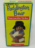 PADDINGTON BEAR: PLEASE LOOK AFTER THIS BEAR - VOLUME 1 VHS VIDEO, 6 EPISODES