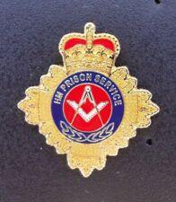 HM HMP Prison Service MASONIC SQUARE & COMPASS tie tac pin badge FREEMASONRY ,