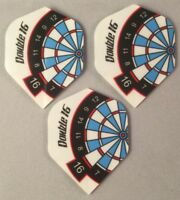 Darts Flights Set of 3 Double 16 Standard Shape 75 Micron Red Dragon Free P&P