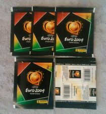 5 pochettes panini euro 2004 portugal  bustine packet  soit 25 stickers