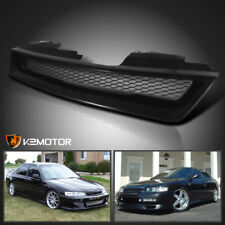 For 1994-1997 Honda Accord 2/4Dr JDM Black Mesh Front Hood Grill Grille ABS