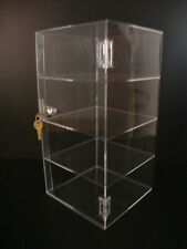 "Acrylic Countertop Display Case 8"" x 8"" x 16"" Locking Security Show Case Safe B"