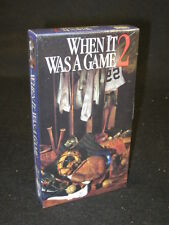HBO Video  WHEN IT WAS A GAME 2   VHS TAPE In Shrink Wrap  c. 1992