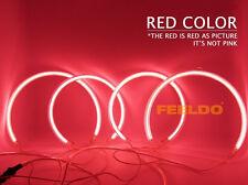4pcs LEXUS IS200 IS300 CCFL Angel Eyes Halo Rings Kit WHITE 2002-2007 RED