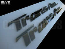 "93-02 PONTIAC TRANS AM DOOR EMBLEMS OVERLAYS ""BLACK MIRROR"" STAINLESS STEEL!!!"