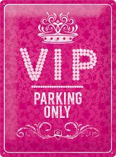 VIP Parking Only Blechschild 30x40 cm 23184 Pink Strass