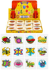 576 Insect Temporary Children's Tattoos Wholesale Lot Job Lot in asstd designs