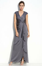 ADRIANNA PAPELL Draped Evening Gown Sz 6 NWT