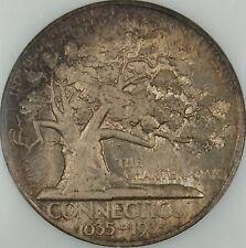 1935 Connecticut Commemorative Silver Half Dollar, NGC MS-66, Toned