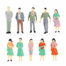 1:50 Scale Train Scenery DIY Diorama Plastic Model Train People Figures 10pcs