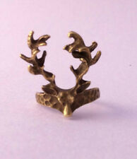 Deer Antler RING Gold Horns Animal Quirky Indie Vtg Retro Grunge Antique Rock90s
