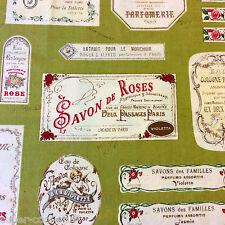 EK51 Perfume Labels French France Fashion Eau Japanese Cotton Quilt Fabric