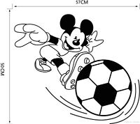 Mickey mickey Wall Sticker Mouse Personalised Boys Bedroom Stars