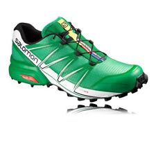 Chaussures de fitness, athlétisme et yoga verts Salomon pour homme