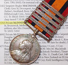 RARE BOER WAR QUEENS SOUTH AFRICA MEDAL *NEW ZEALAND* 5 CAMPAIGN 6TH CONTINGENT