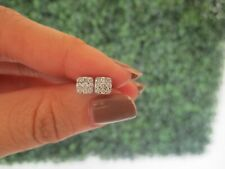 .24 CTW Diamond Earrings 18k White Gold Ex66 sep