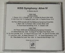 KISS SYMPHONY ALIVE IV PROMO COMPACT DISC FROM SANCTUARY RECORDS 2003