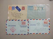Four '40,#1 aerograms:Philippines,GB,India,US