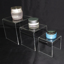 Party Countertop Display Stand 3 Clear Acrylic Riser Set Showcase 5x4x3 Stands