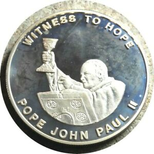 elf Zambia 1,000 Kwacha 2003 Proof Gilt  Pope St. John Paul II  Witness to Hope