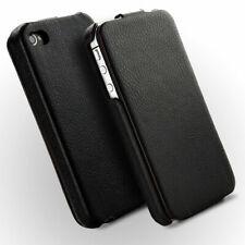 Novada Duke iPhone 4 4S Genuine Leather Flip Case - Black
